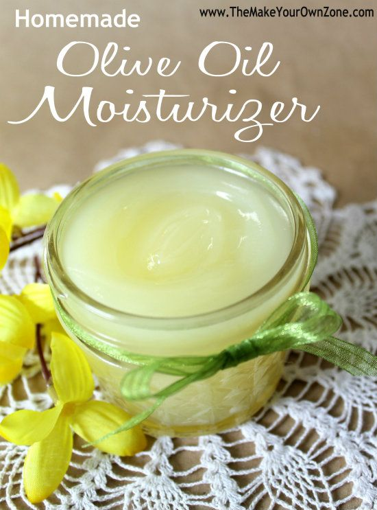 Homemade olive oil moisturizer. This is easy to make, sounds like it would feel amazing on the skin and would make an excellent and thoughtful DIY gift!