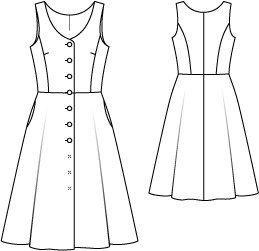 Button Down Retro Dress 09/2014 #123
