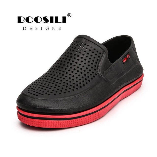 Men's Sandals 2019 Erkek Ayakkabi Mens Leather Sandal Mens Garden Shoes Summer Sandals High Quality Breathable Clogs Lightweight Big Size Shoes