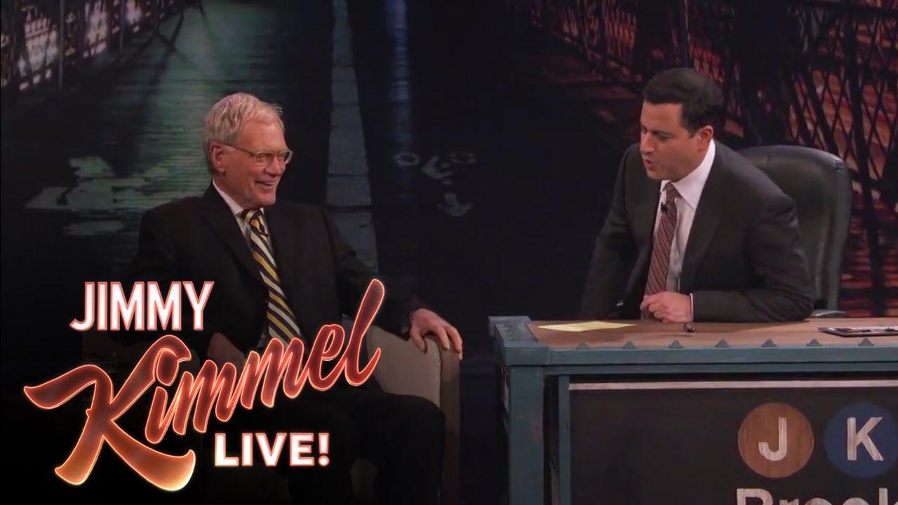 David Letterman on Jimmy Kimmel Live PART 1