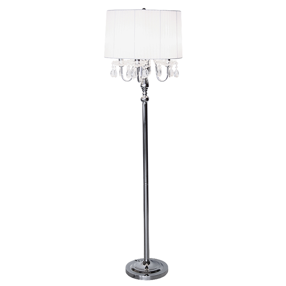 Beaumont White 4 Light Standing Lamp Luxury Modern Standard Lamps