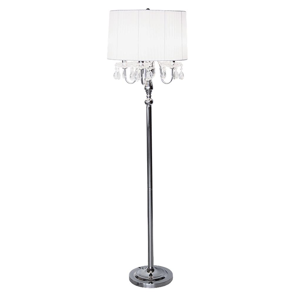 Beaumont White 4 Light Standing Lamp Luxury Modern Standard Lamps