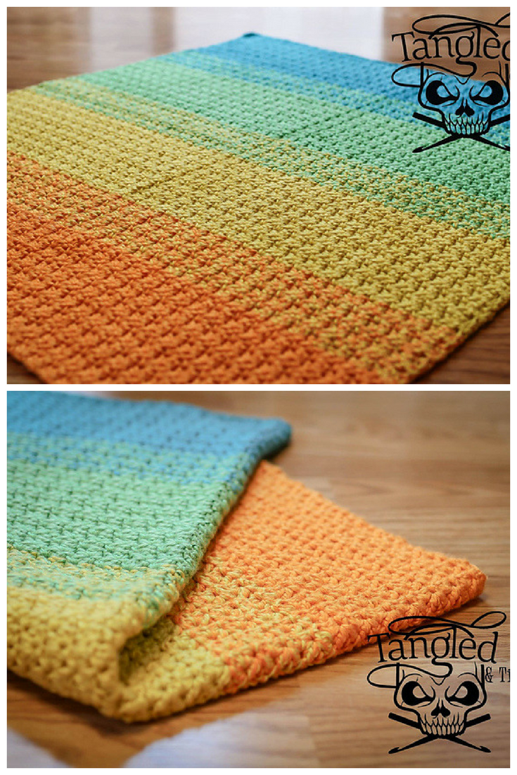 Free Crochet Pattern] This Blanket Works Up Fast And Is Simple ...
