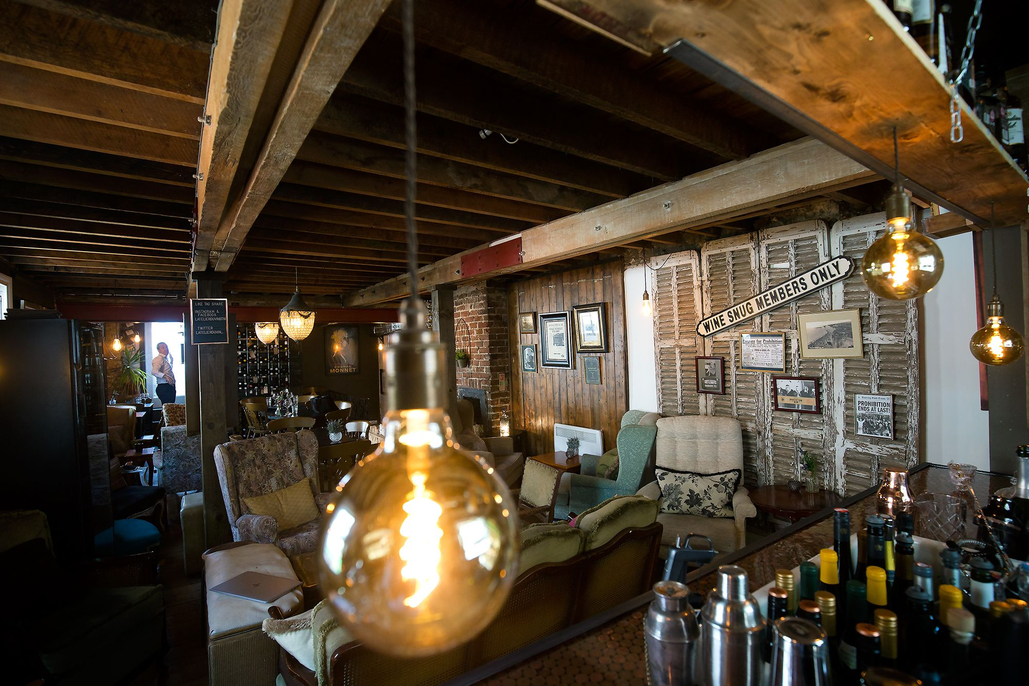 Prohibition Interior At L Atelier Du Vin Tail And Wine Bar In Brighton