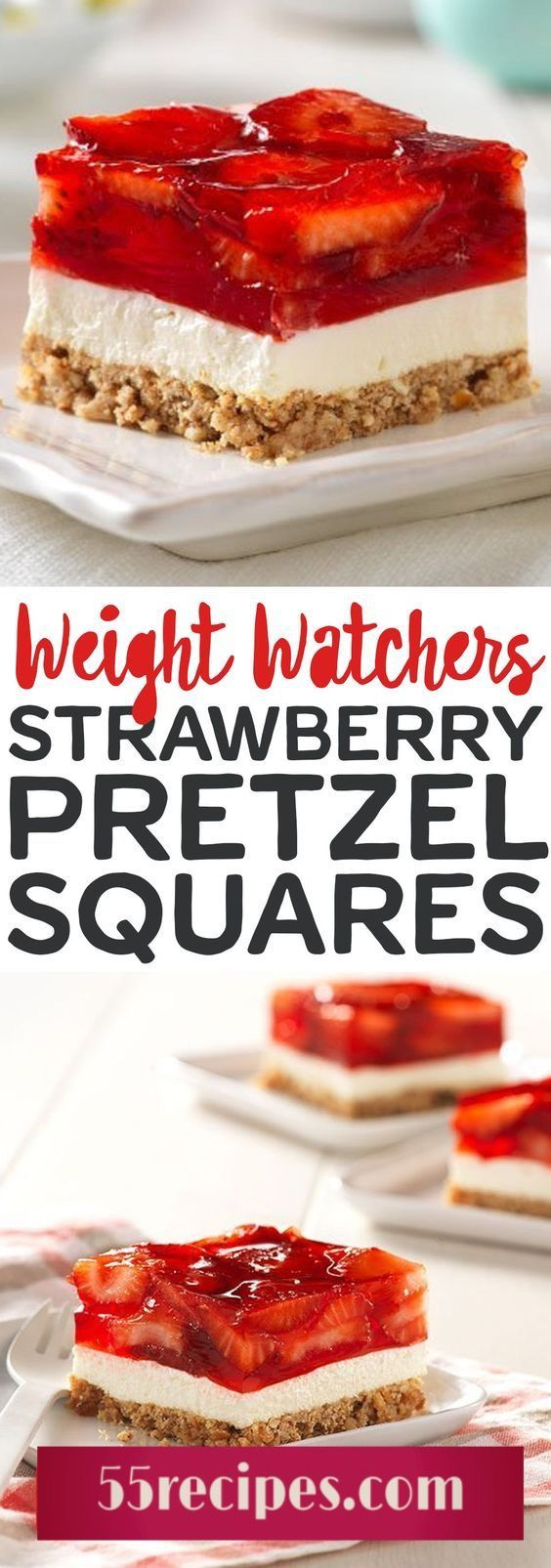 Pretzel Squares Weight watchers strawberry pretzel squaresWeight watchers strawberry pretzel squares