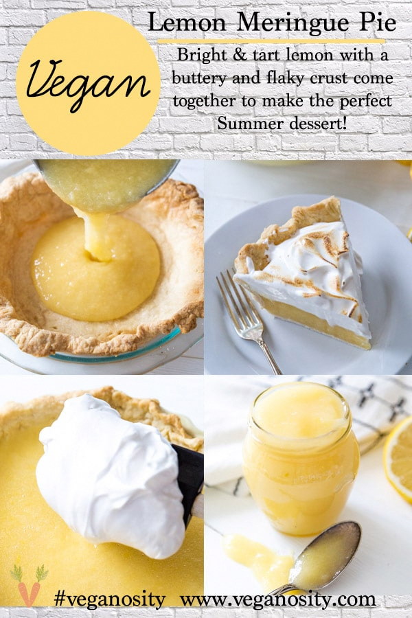 Authentic lemon meringue pie that happens to be vegan and egg and dairy free!