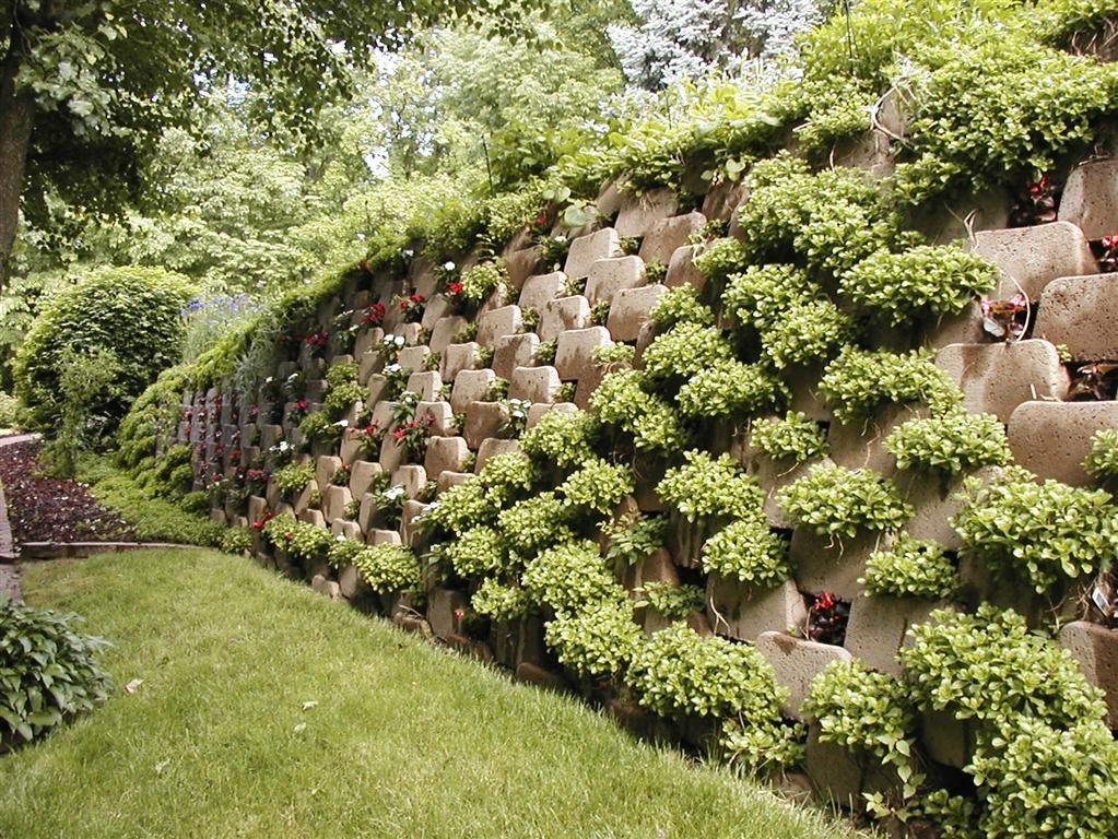 Plantable Retaining Walls Hercules Green Retaining Sloped Garden Garden Wall Steep Hill Landscaping