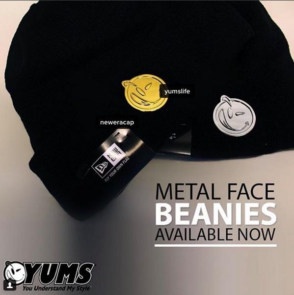 2324d8d7d10 YUMS Metal Face Beanies  winter  street  style  beanie  fashion  metallic