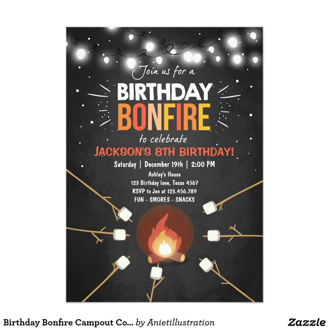 Birthday bonfire campout cookout party invitation pinteres birthday bonfire campout cookout party invitation more filmwisefo