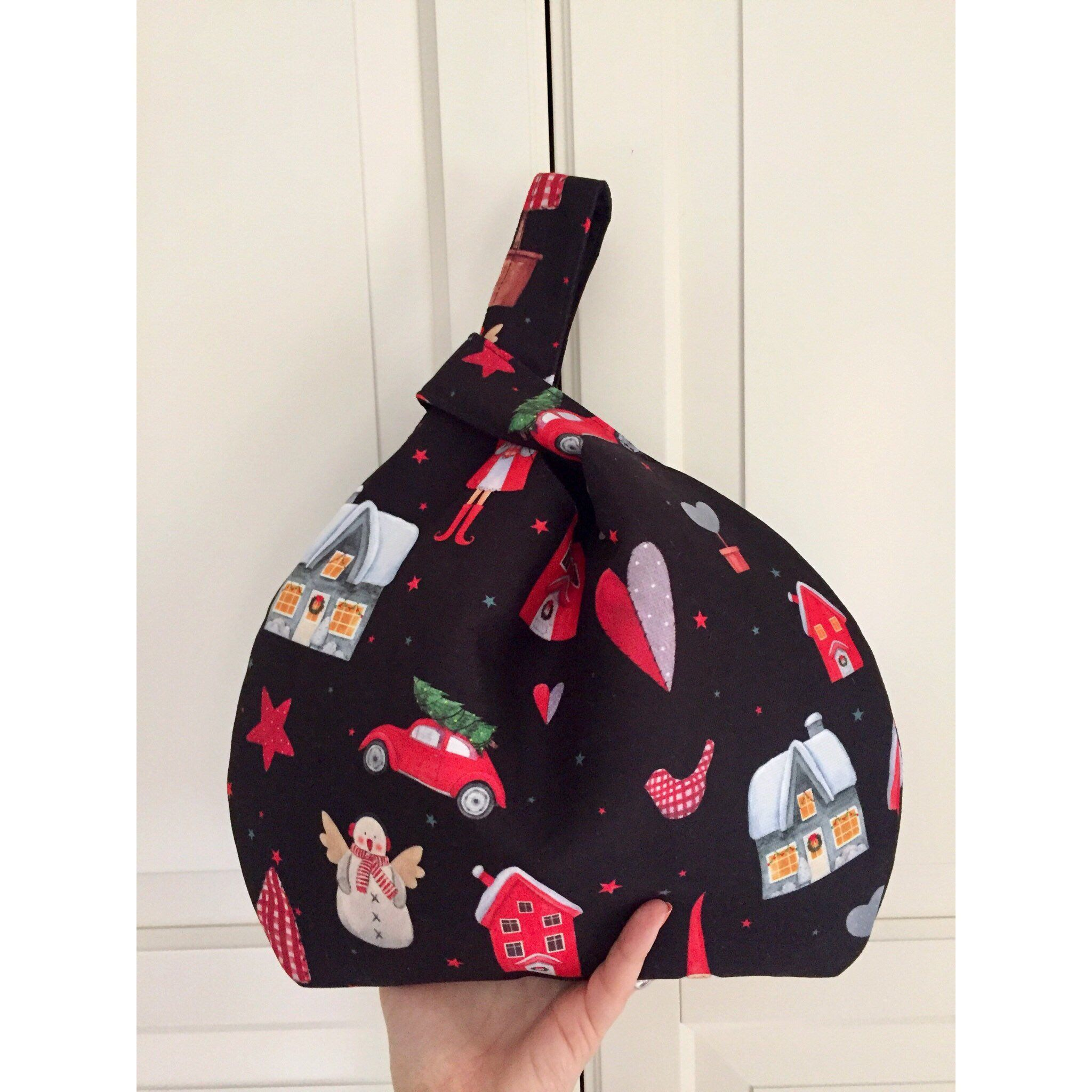 Colorful Japanese Knot Bag, New Year's Gift Bag, Wristlet