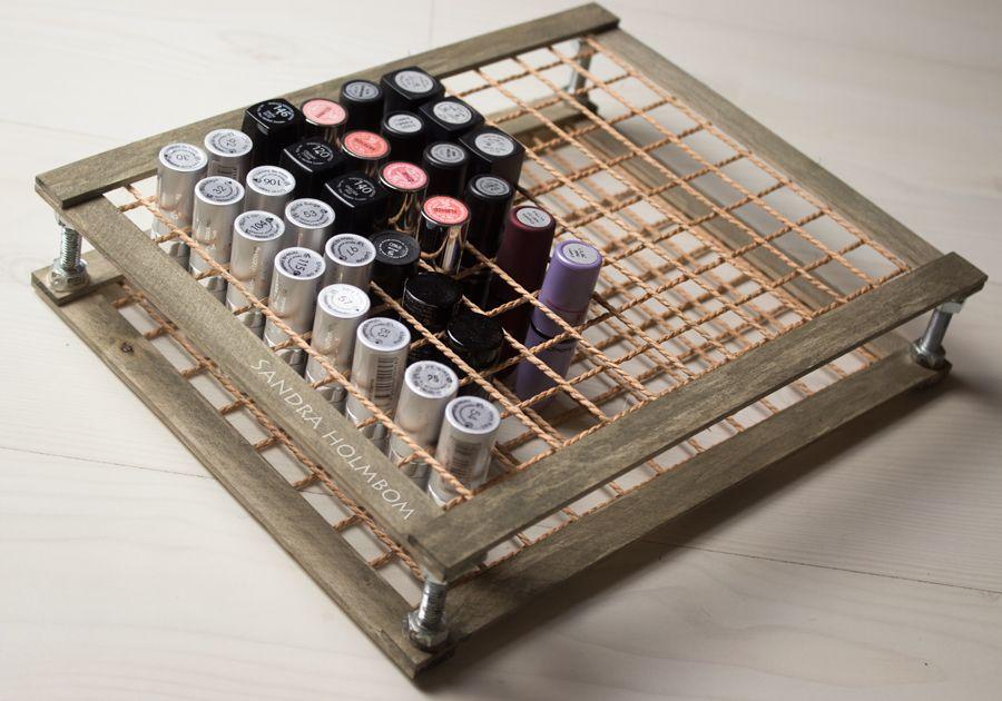 Tutorial  DIY Lipstick holder (wood & rope/string?) In ...