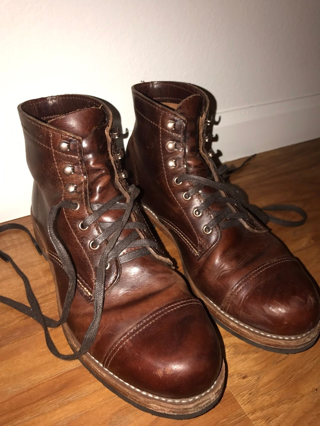 5aac547f5d9c89 Wolverine Wolverine 1000 Mile Adrian Cap Toe Captoe Dress Work Boot Size 9   173 - Grailed