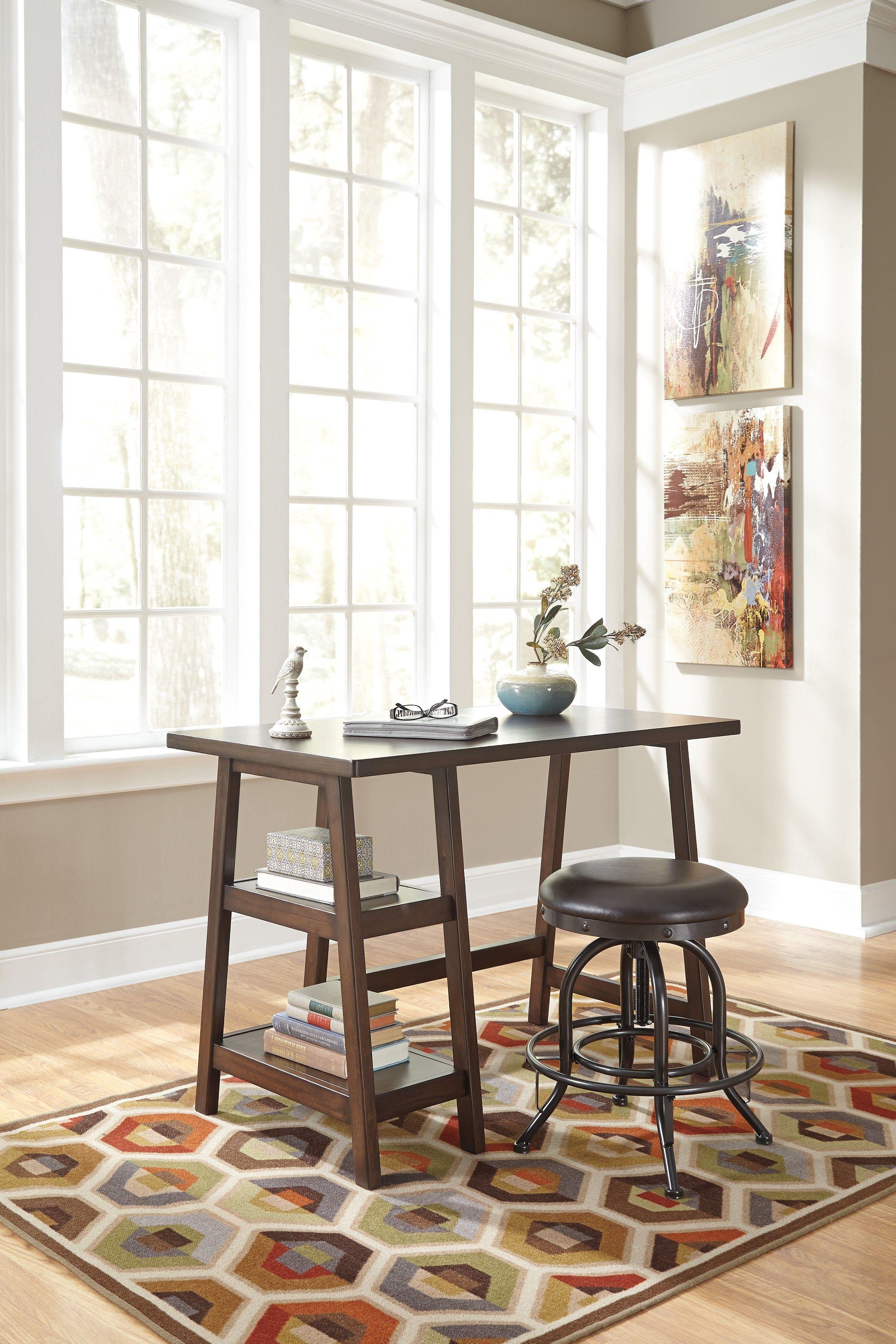 Lewis Medium Brown Home Office Small Desk   Ashley lewis, Medium ...