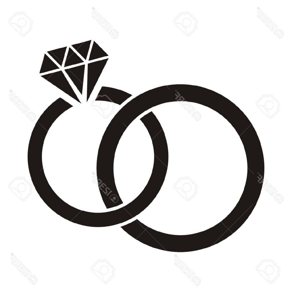 diamond ring clipart black and white [ 1024 x 1024 Pixel ]