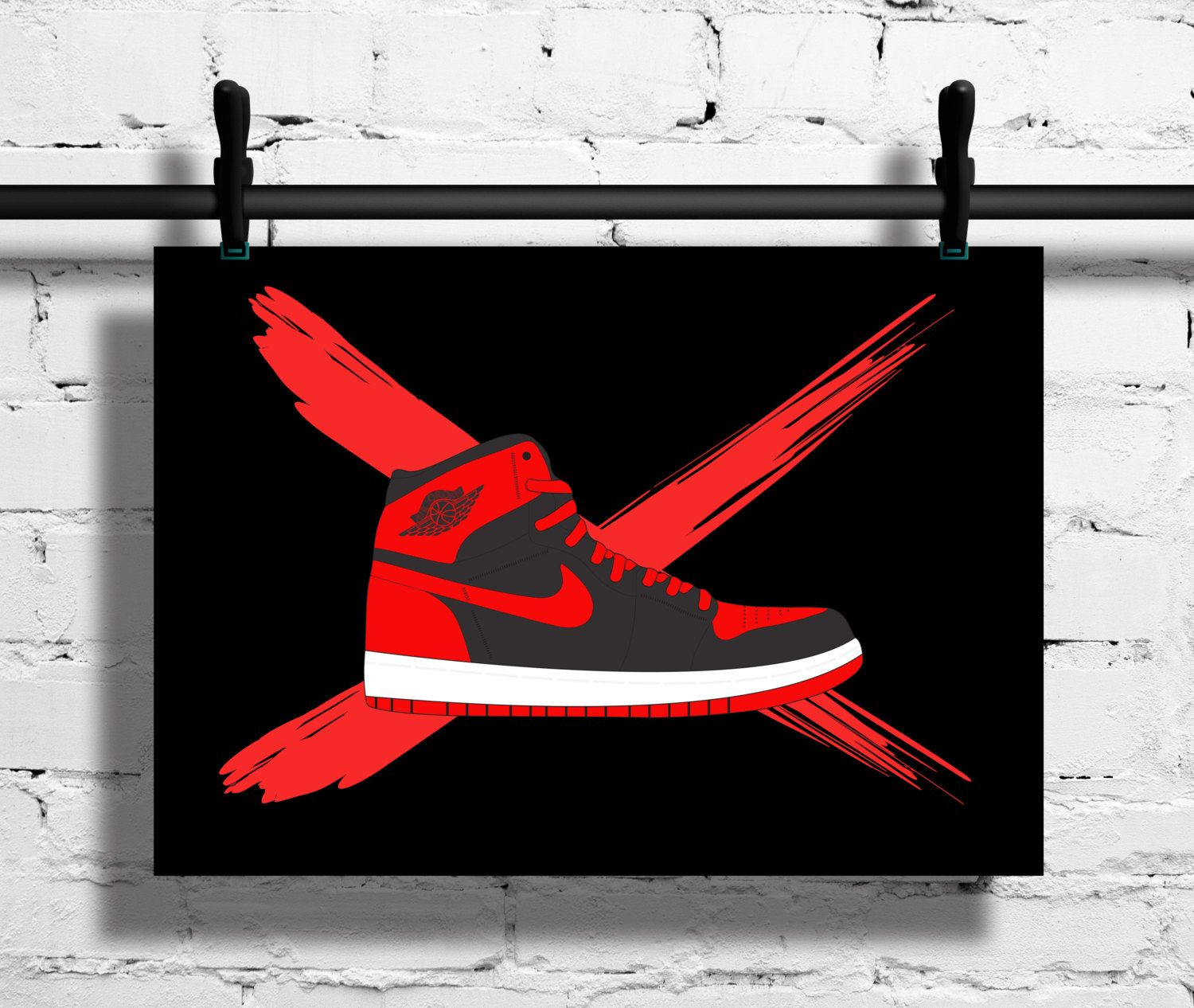 why were air jordan 1 banned posters