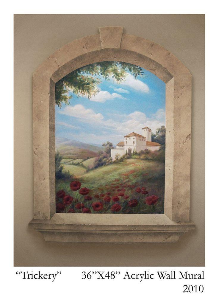 Pin di Teri Brown su Casas pintadas | Dipinti murali ...