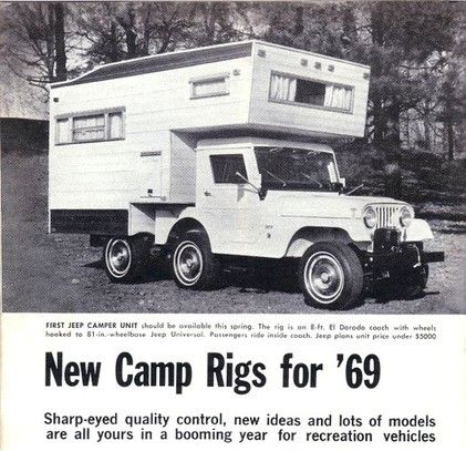 The 1969 Cj5 Jeep Camper Could Be The Rarest Rv Ever Camper