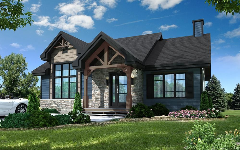 House Plan 034 01133 Northwest Plan 1 102 Square Feet 2 4 Bedrooms 1 Bathroom In 2020 Craftsman House Plans Drummond House Plans Rustic House Plans