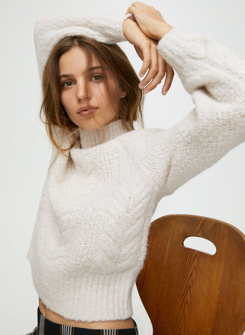 Melly Sweater - White cable-knit fisherman sweater