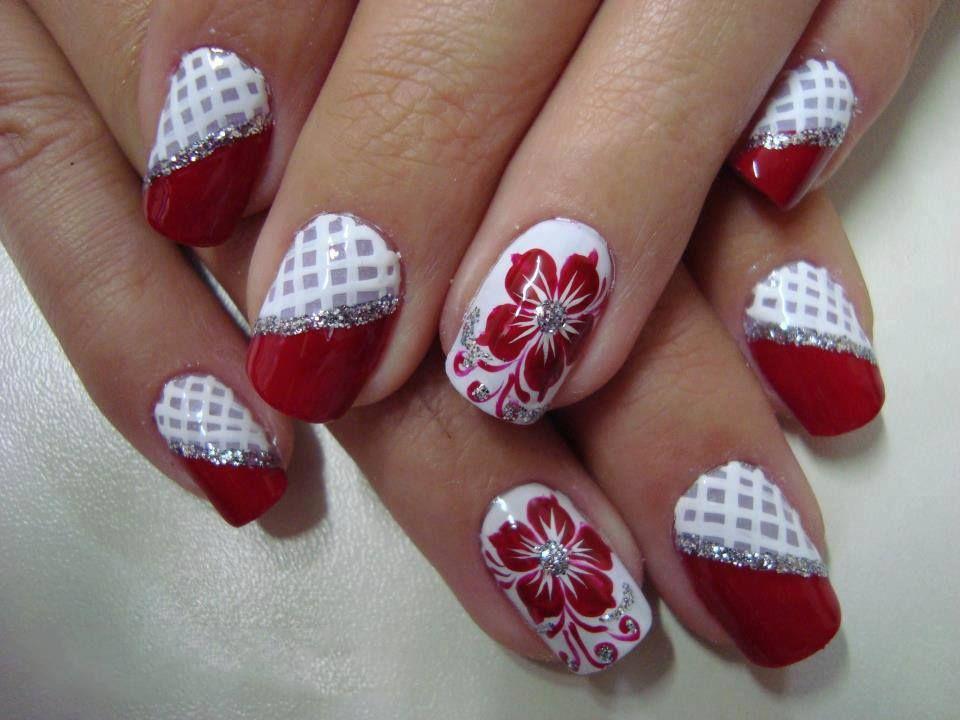 rojo y blanco | manos y pies | Pinterest