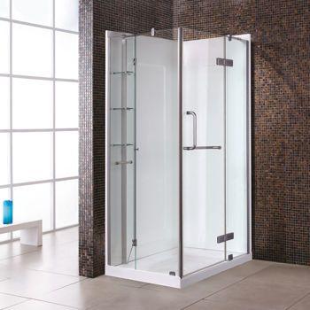 New Waves Sharon Shower Shower Doors Shower Kits Powder Room