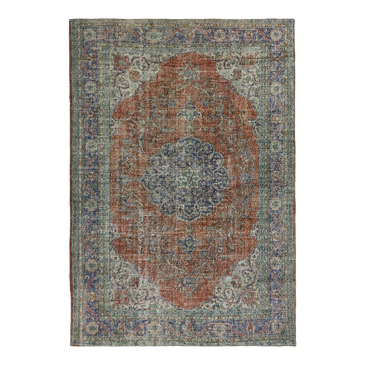 Best Distressed Classic Medallion Carpet 7 5 X 11 Home 400 x 300