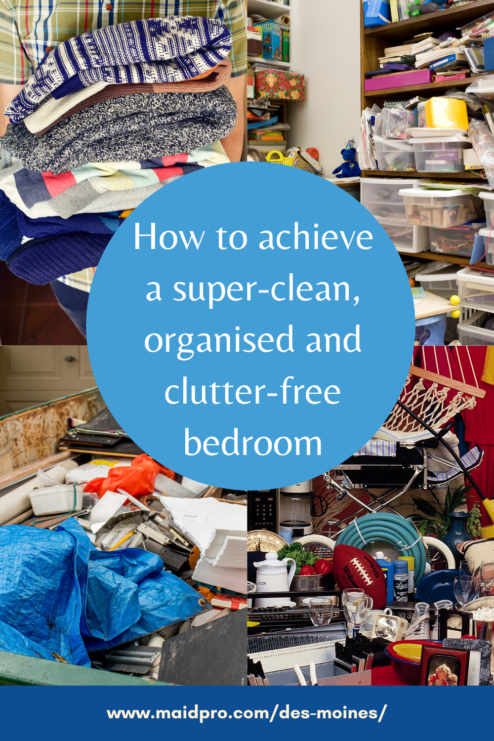 It's common for the bedroom to become a dumping ground for ...