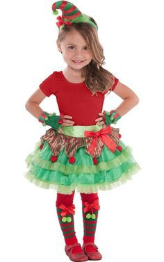 A cute little elf costume for children christmas - Duendes navidenos disfraces ...