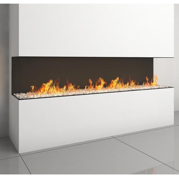 Lennox 3 Sided Propane Fireplace: Ortal Clear TS 200 Three Sided Glass Gas Fire