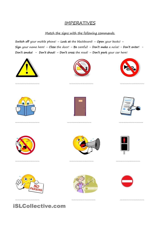 Imperatives Commands Classroom Activities