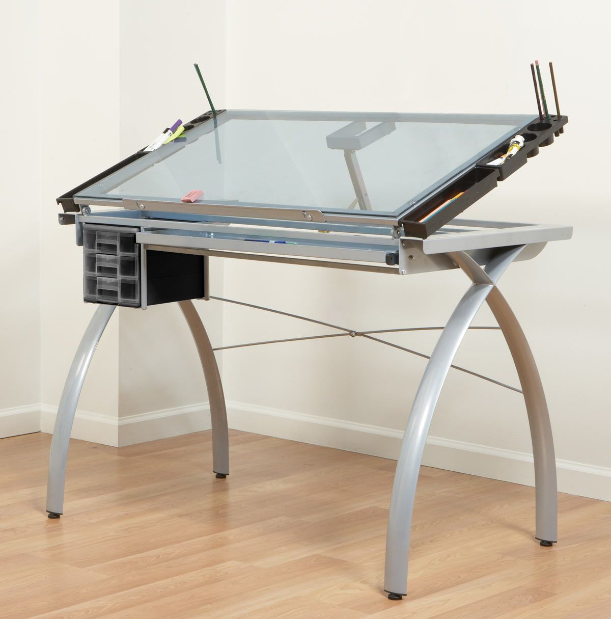 glass drawing table | college/apartment | Pinterest | Drawing desk ... for Drawing Table With Light  545xkb