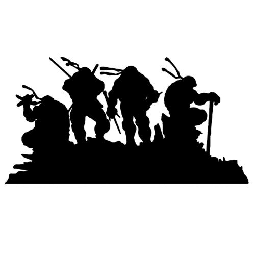 Teenage mutant ninja turtles die cut vinyl decal for windows vehicle windows vehicle body surfaces or just about any surface that is smooth and clean
