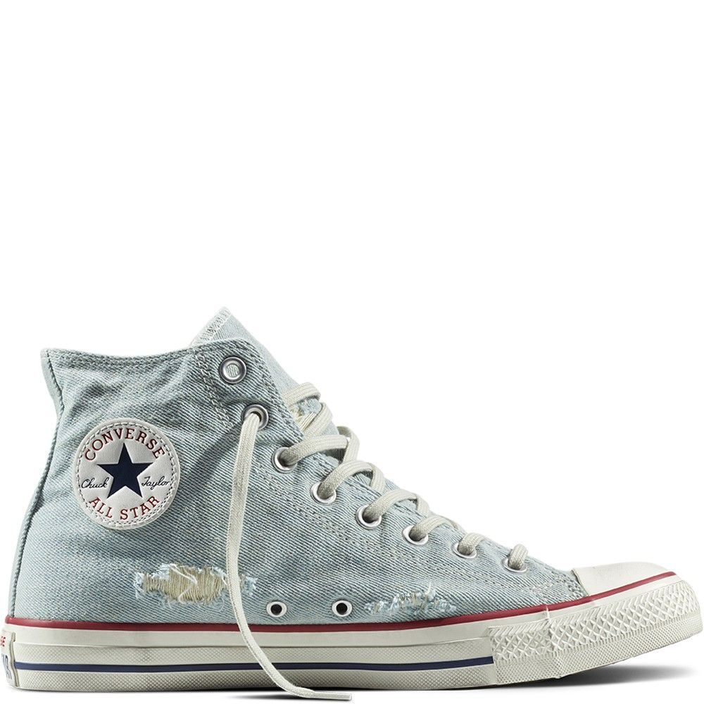 3206d25041bf Converse High Top 156740C light blue garnet white Textile Chuck Taylor All  Star Destroyed