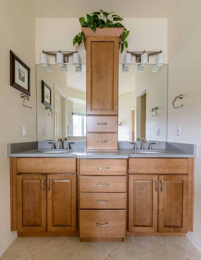 Captivating Peregrine Bathroom Remodel, Colorado Springs, Kraftmaid Fox Chase Maple  Cabinets With U201ctoweru201d