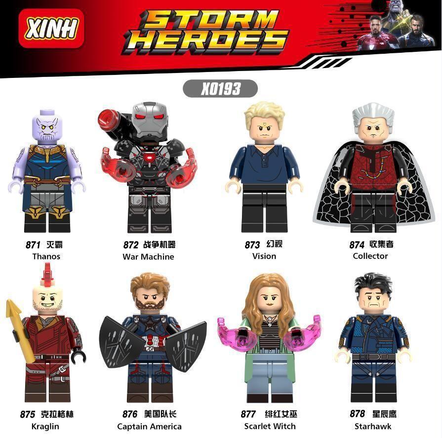 Marvel Avengers End Game Lego Moc Minifigure Toys Gift Kids Thor