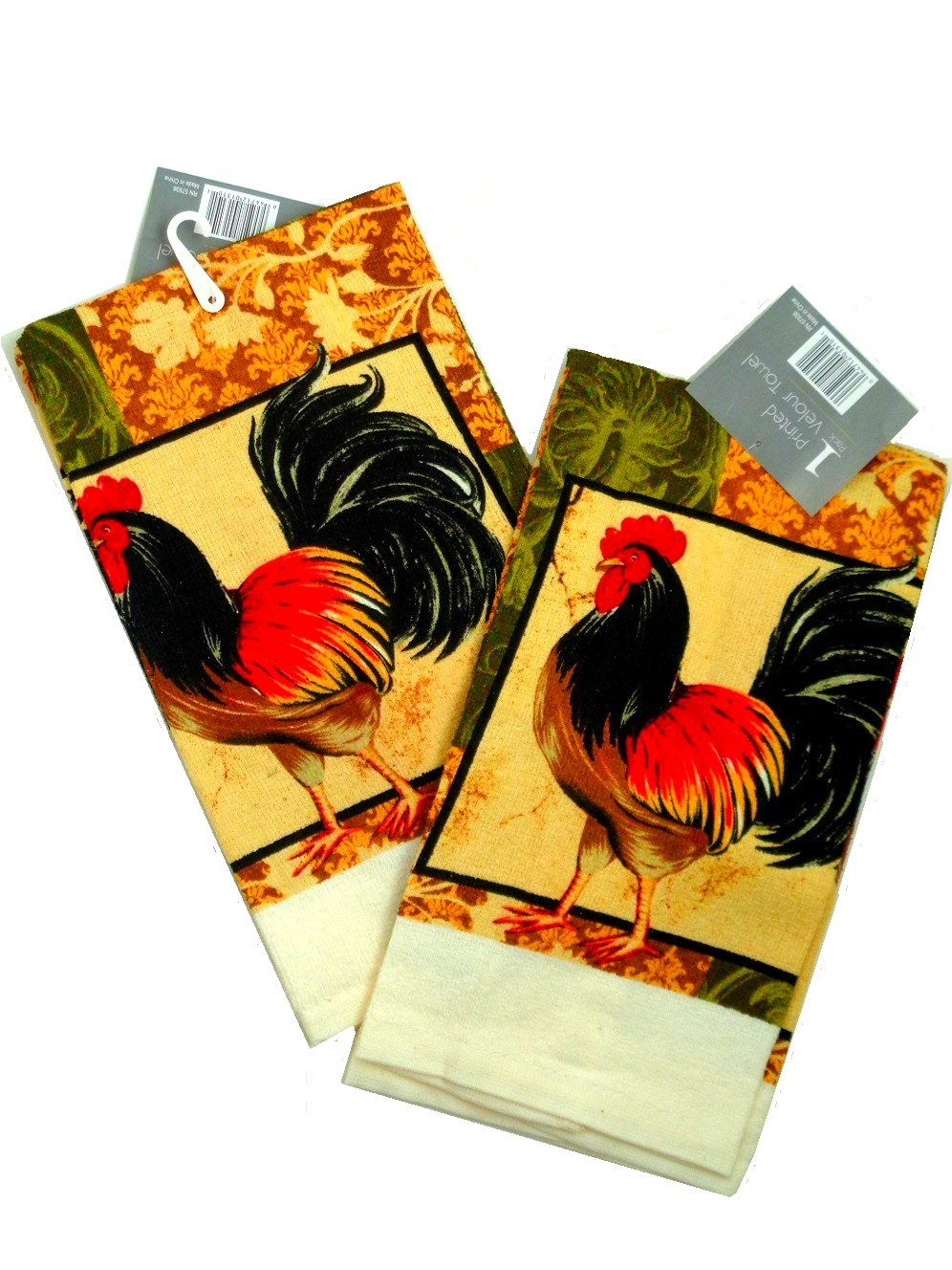 Rooster Kitchen Decor Roosters Kitchen Towels Set Of Two 1395 Country Rooster