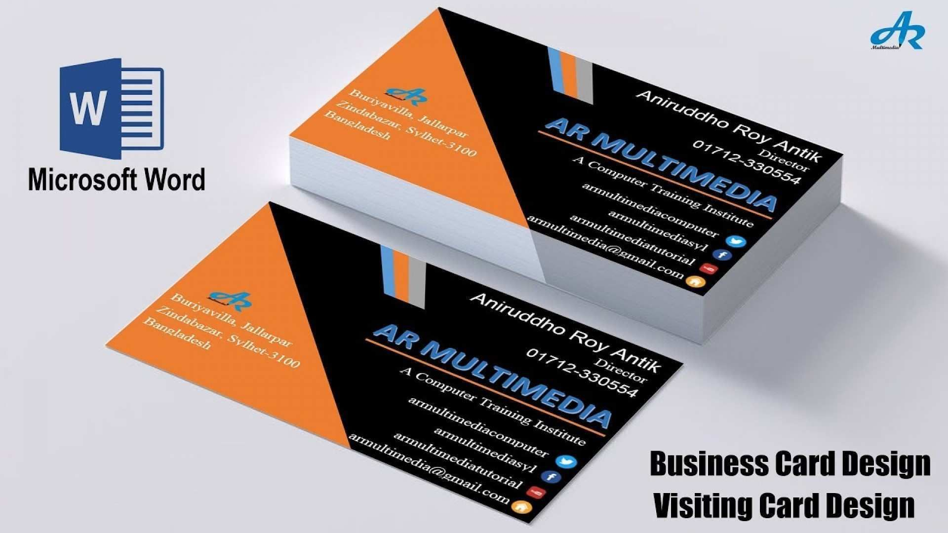 37 Visiting Microsoft Office Word 2007 Business Card Within Business Card Templa Create Business Cards Free Business Card Templates Business Card Template Word