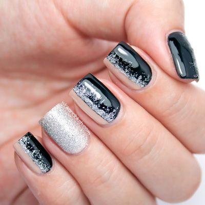 modele unghii cu gel argintii