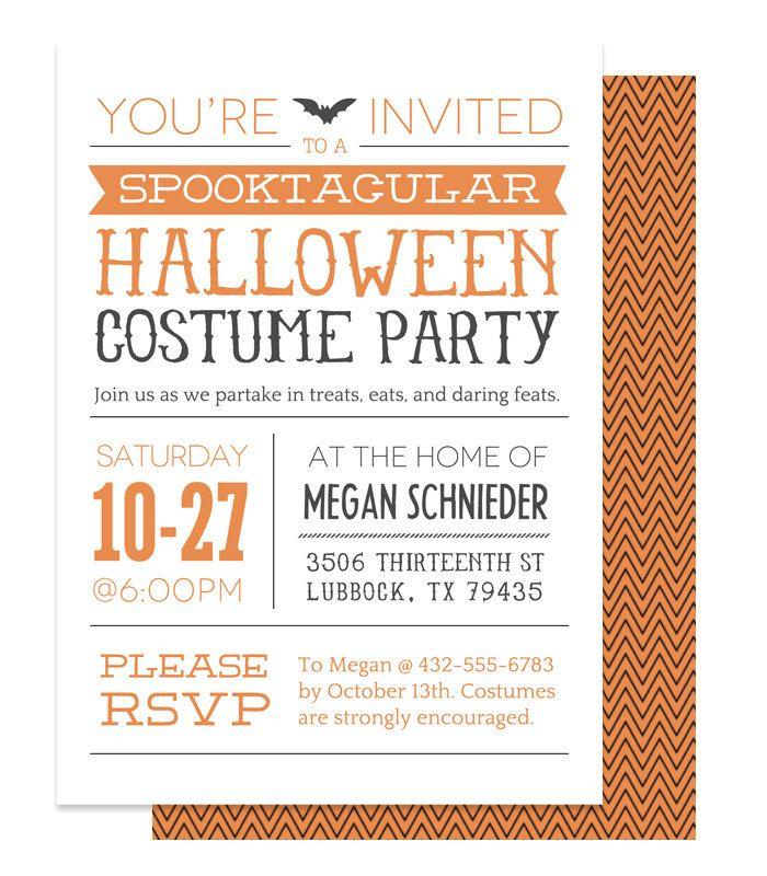 halloween invitation printable custom halloween invitation 1500 via etsy