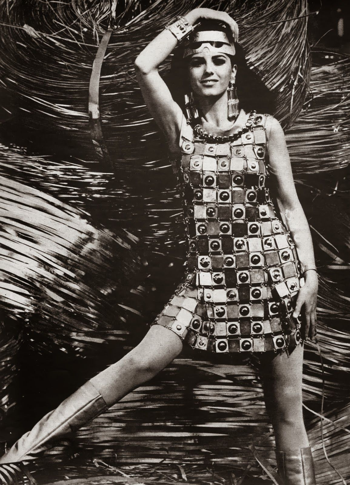 1960s Paco Rabanne Dress Sixties Fashion Paco Rabanne