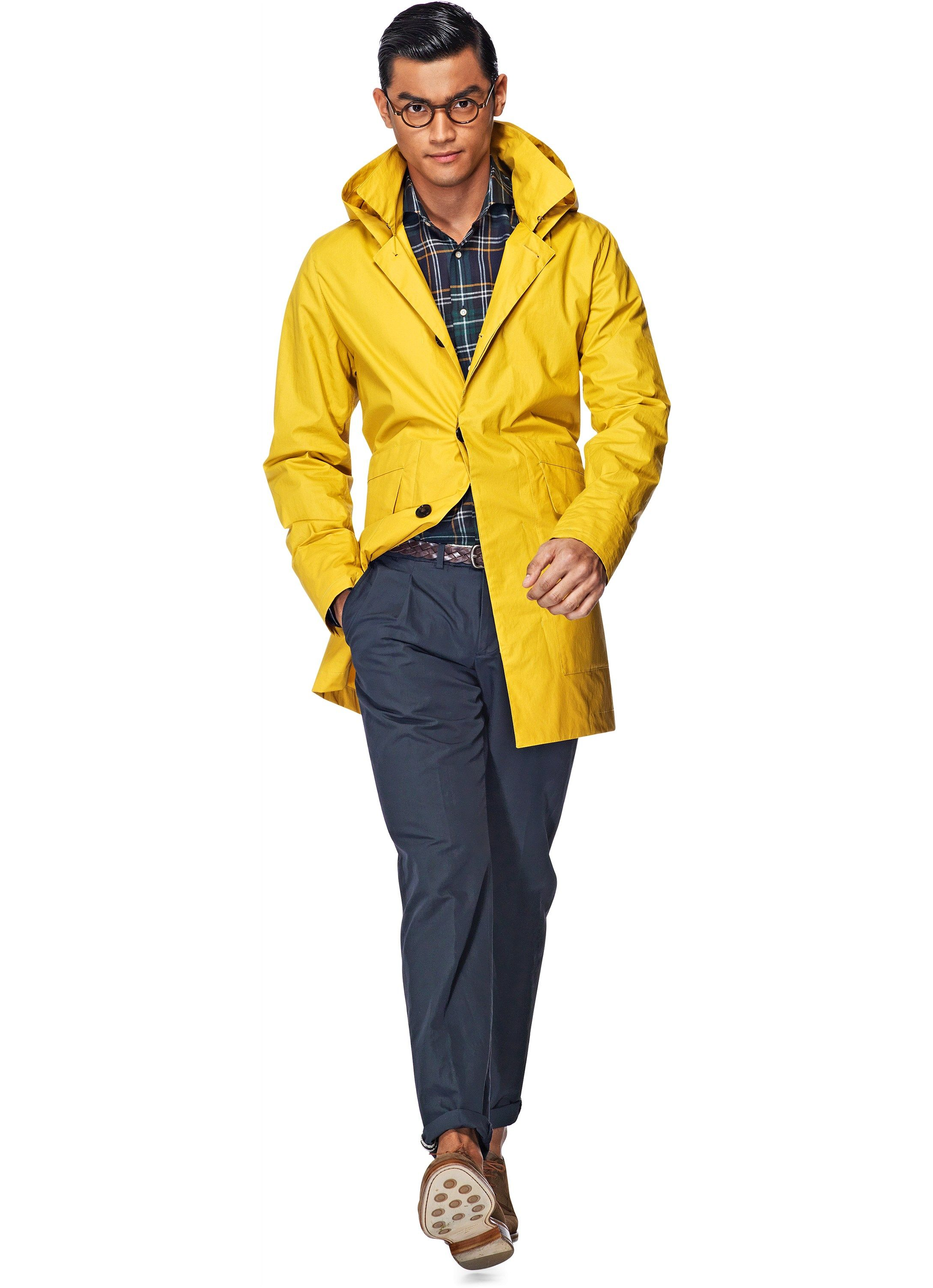Yellow Raincoat J268i | Suitsupply Online Store - size Small ...