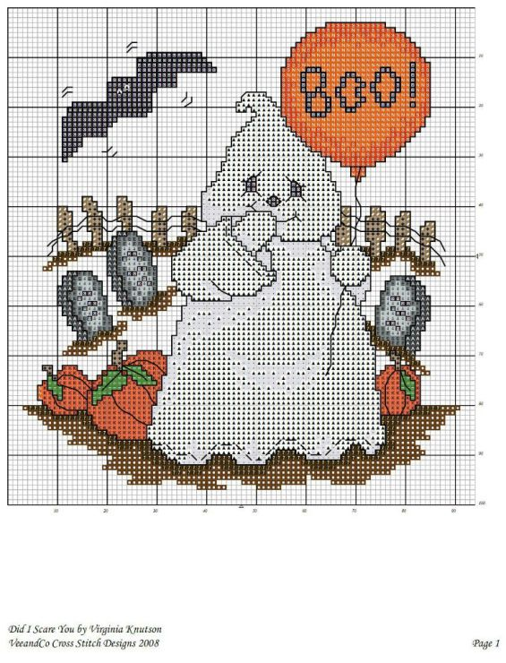 2) Gallery.ru / Фото #8 - 1234 - keryan | cross stitch Halloween ...