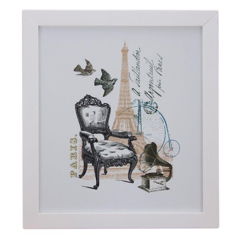 Quadro Cadeira e Torre Eiffel - Col. Exclusiva