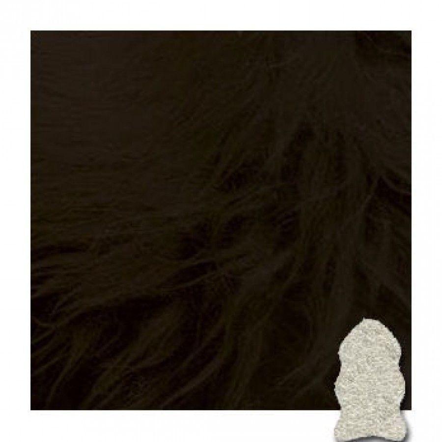 Bowron Sheepskin Contemporary Black Gold Star Rug