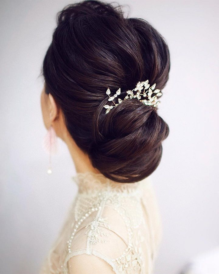Gorgeous wedding hairstyles for every length updo wedding hairstyle elegant wedding updo hairstylesupstyles chignonbridal updoswedding hairstylesbridal pmusecretfo Gallery
