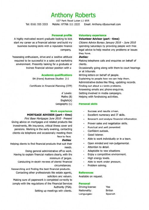 Financial Planning Assistant Sample Resume Awesome Business Resume  Cv N Resume  Pinterest  Business Resume And .