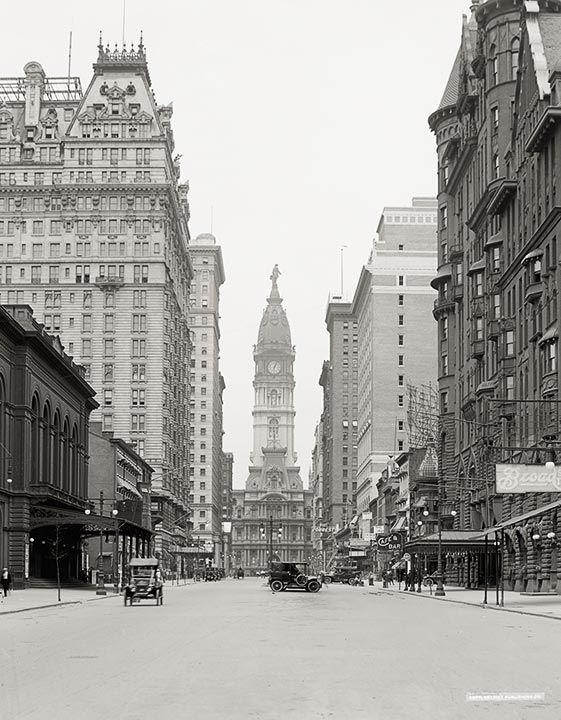 Broad Street And City Hall Tower Philadelphia C1915 Vintage Photo Vintage Photographs Broad Streets City