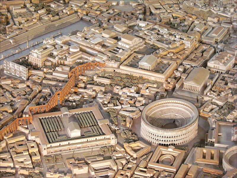 Scale model of ancient rome roma antica roma e for Architettura e design roma