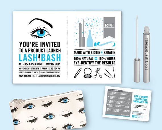 Rodan + Fields Lash Bash Invitation with Lash Boost directions and - fresh invitation to tender law definition