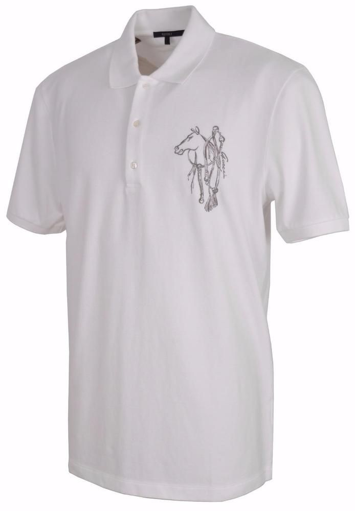 1af81c85875 New Gucci Men s 338567 White Classic Fit Embroidered Horse Polo Shirt XXXL  3XL  Gucci  PoloRugby